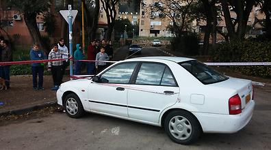 זירת התאונה בקריית שמונה (צילום: עידו בקר)