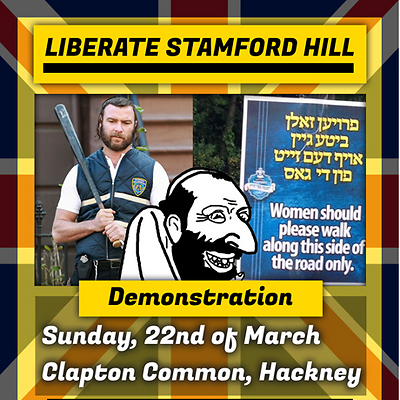 Poster for the anti-Semitic rally