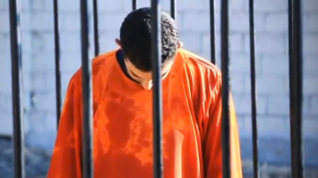 מתוך סרטון ההוצאה להורג של דאעש, השבוע (צילום: רויטרס)
