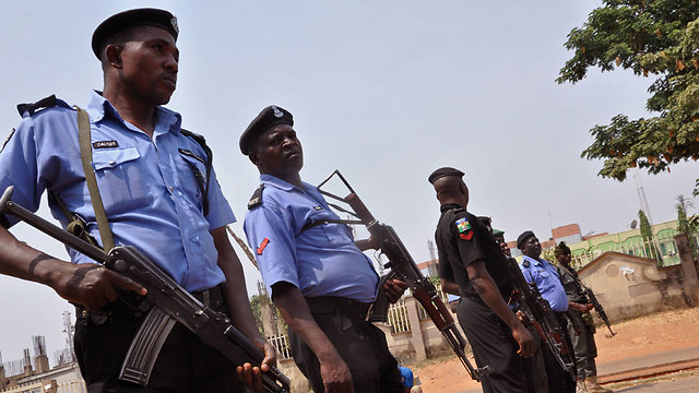 Nigerian police officers in Eboja (Photo: AP)