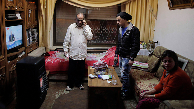 The Musallam famiy in their Jerusalem home (Photo: Reuters)