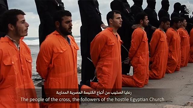 מתוך סרטון ההווצאה להורג שפרסם דאעש ()