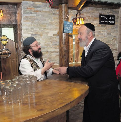 The 'Kretshme' bar. Like a picturesque Jewish town in Europe (Photo: Meir Edri)