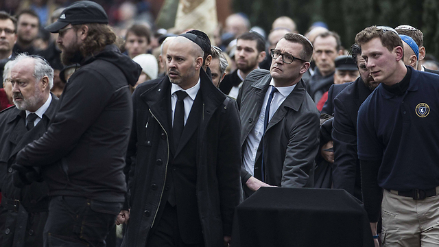 Funeral of Dan Uzan who was shot dead outside Copenhagen synagogue (Photo: AFP)