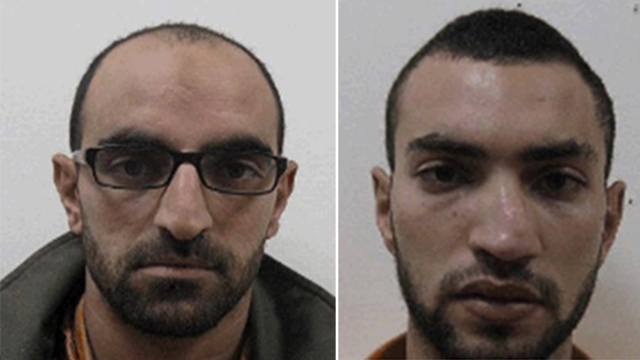 Salam, left, and Saheib Saltan. Planned series of terror attacks. (Photos: Shin Bet)