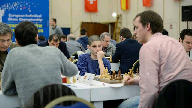 "Westreich at playing hall. ""It's an amazing feeling (Photo: Yoav Nis)"