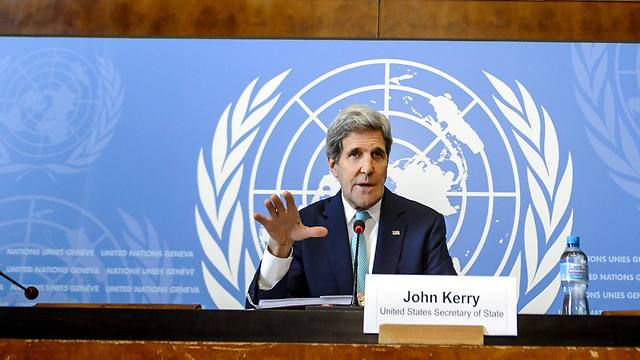 John Kerry speaking in Geneva on Monday (Photo: AFP)