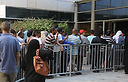 Line outside unemployment office (Photo: Herzl Yosef)