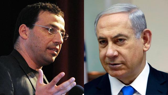 Raviv Drucker and PM Netanyahu (Photo: Yaron Berner/Reuters) (Photo: Yaron Berner/Reuters)
