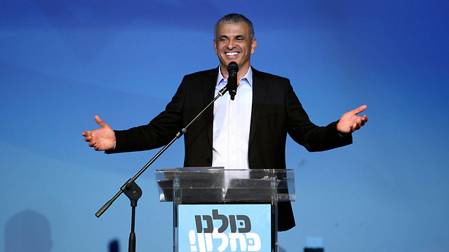 Kahlon celebrates on election night (Photo: Reuters)