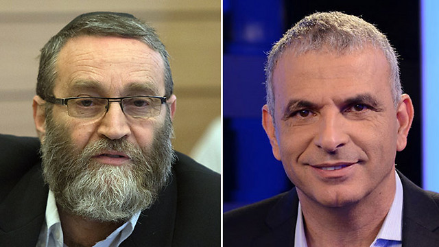 UJT's Moshe Gafni (L) / Moshe Kahlon (R) (Photo: Yaron Brenner / Ohad Zwegenber)