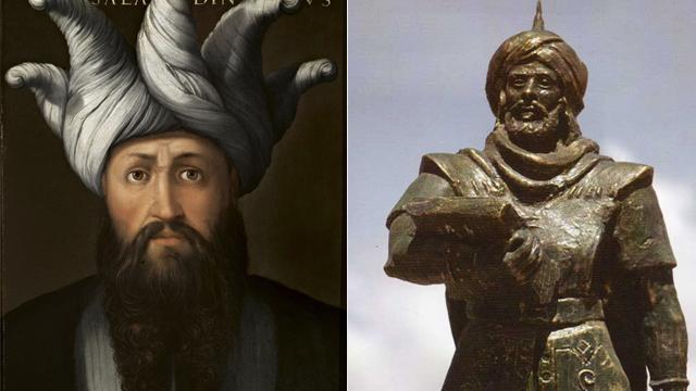 Saladin and Uqba ibn Nafa (Photo: Gettyimages, Al hilali al sulaymi, CC BY-SA 3.0)