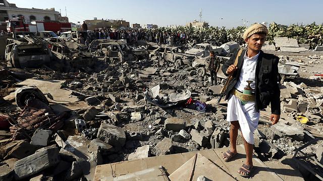 Aftermath of Saudi-led air strikes in Yemen (Photo: EPA)