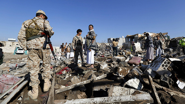 Wreckage from Saudi airstrikes in Yemen (Photo: EPA)