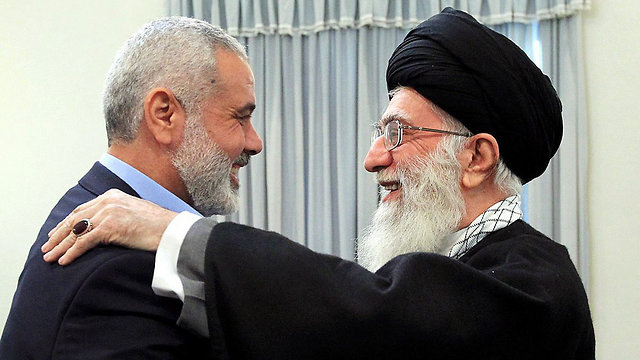 Hamas leader Ismail Haniyeh with Iran's Ayatollah Khamenei in happier days (Photo: EPA)