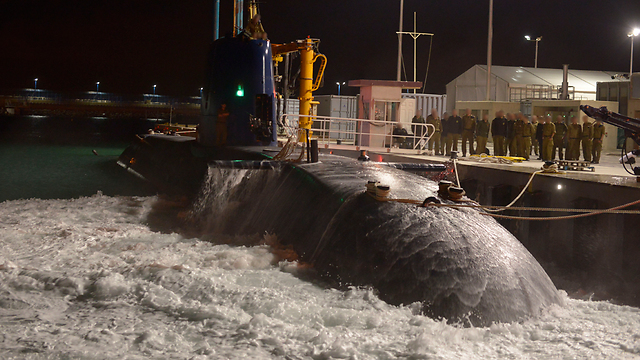 Tanin resurfaces at port (Photo: IDF Spokesperson's Unit)