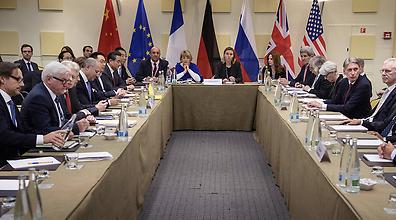 שיחות הגרעין בלוזאן (צילום: AP)