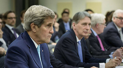 John Kerry in Lausanne (Photo: AP)