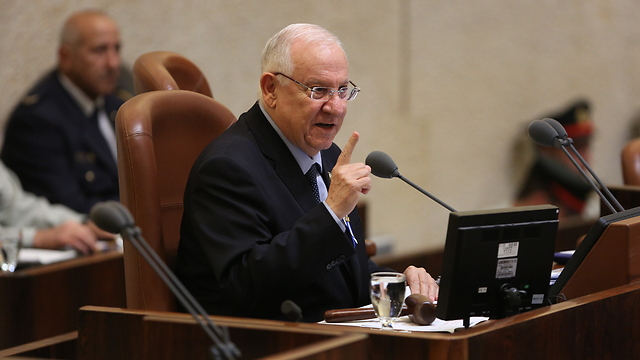 """Rivlin: Their suffering is an """"open and bleeding wound in the heart of Israeli society"""" (Photo: Amil Salman)."""""""