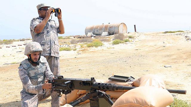 Saudi soldiers on the Yemen border (Photo: AFP)