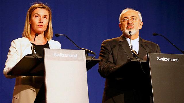 מסיבת העיתונאים בלוזאן (צילום: רויטרס)