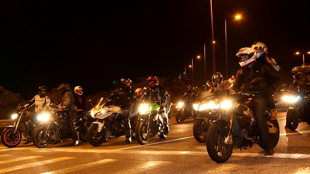Annual motorcycle ride to Mount Bental (Photo: Alex Gilman)