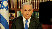Netanyahu speaking against the Iran deal on US television. Photo: GPO