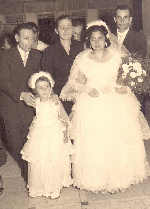Shoshana at her wedding to Yaakov Hassid