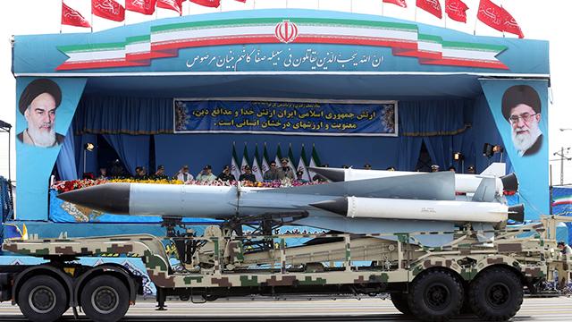 Iranian military parade (Photo: AP)