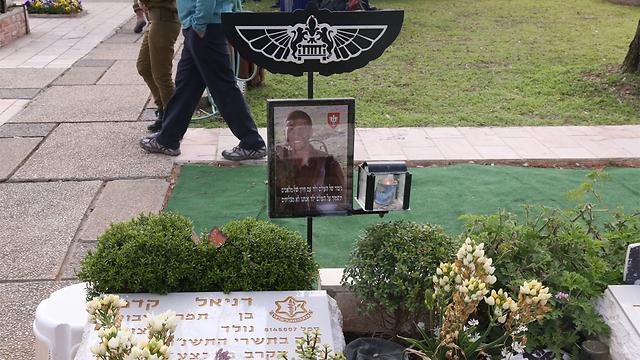 """קברו של דניאל קדמי ז""""ל שנפל בקרב בפילבוקס במבצע צוק איתן (צילום: מוטי קמחי)"""