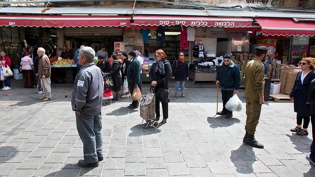 שוק מחנה יהודה בירושלים (צילום: AP)