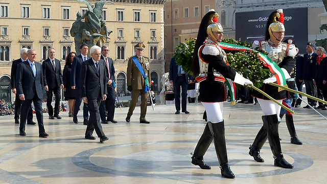 Italian ceremony (Photo: AFP)