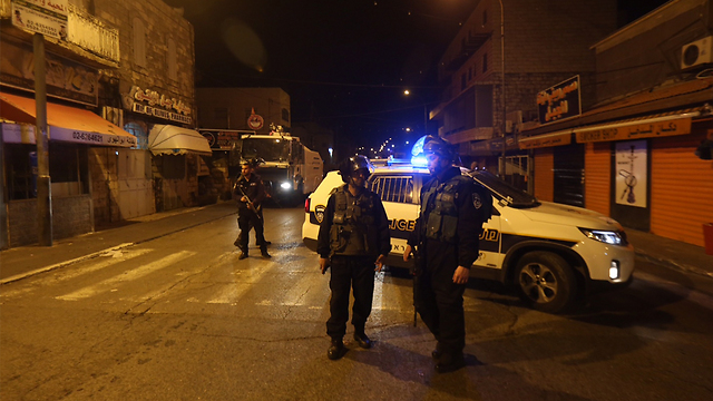 Scene of attack in East Jerusalem (Photo: Gil Yohanan)