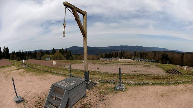 A gallows at the only Nazi death camp on French soil, the WWII Struthof concentration camp (Photo: AFP)