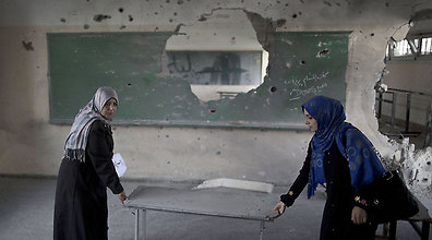 UNRWA school in Gaza hit by IDF bombardment during Protective Edge (Photo: AFP)
