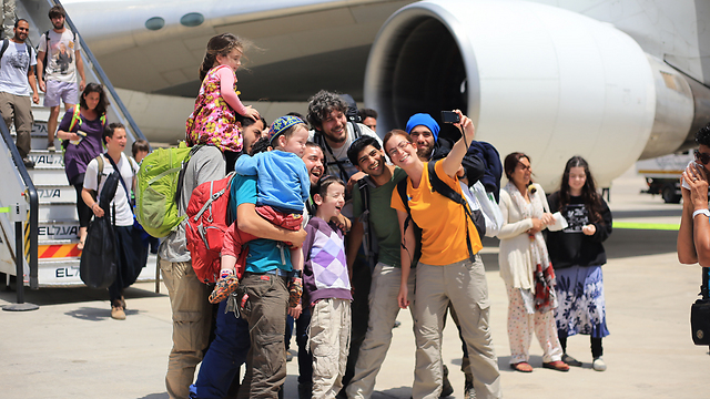Families reunite after Nepal quake (Photo: Yaron Brenner)