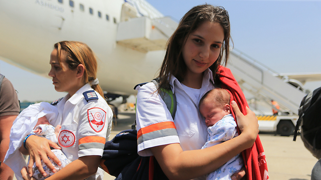 15 babies land safely in Israel (Photo: Yaron Brenner)