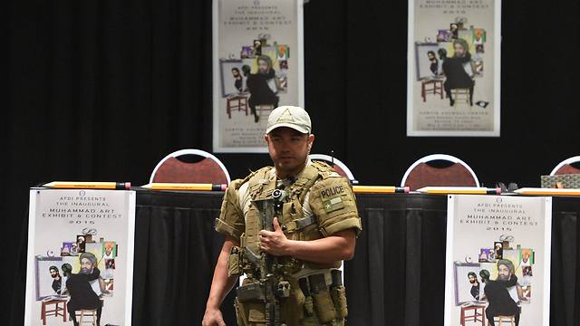 US special forces at arena where shooting took place. (Photo: EPA)