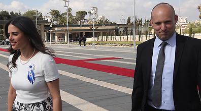 Ayelet Shaked and Naftali Bennett of Bayit Yehudi (Photo: Gil Yohanan)