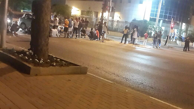 Protest in Rishon LeZion (Photo: Eli Senyor)