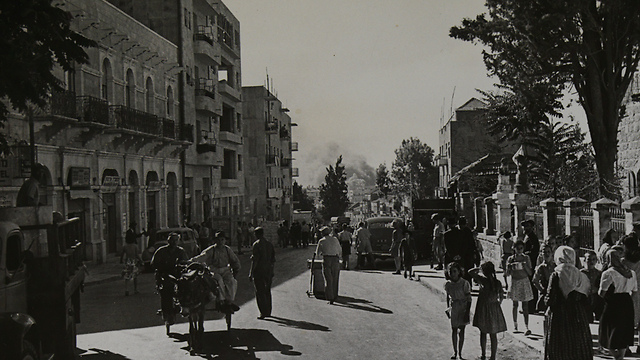 Jaffa Road, seen from the direction of Davidka Square (Photo: Jacques Rohm)