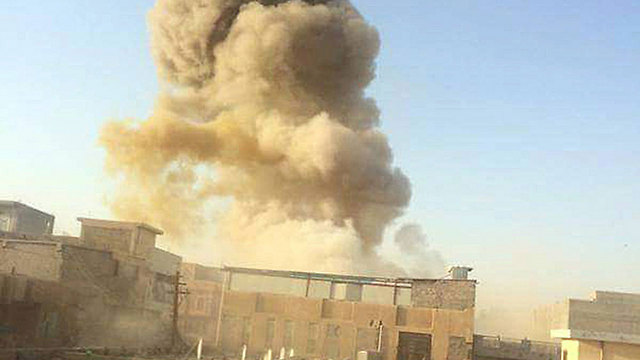 Explosion in Ramadi (Photo: MCT)