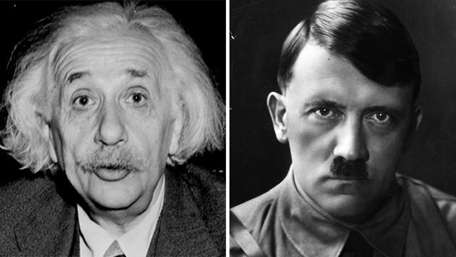 היטלר ואיינשטיין (צילום: gettyimages)