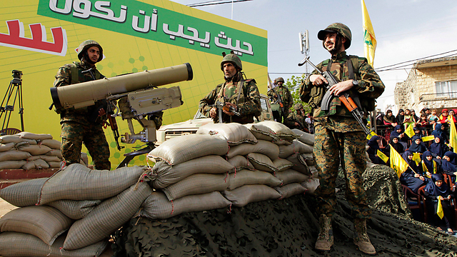 Rally marking 15 years since Hezbollah's establishment, south Lebanon (Photo: EPA)