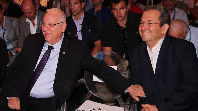 הנשיא ריבלין עם ראש הממשלה לשעבר, אהוד ברק (צילום: מוטי קמחי)