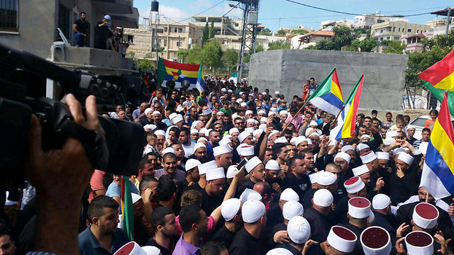 Thousands call on Israel to save Syrian Druze in mass protest