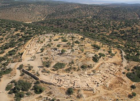 Khirbet Qeiyafa where the jar was found (Photo: Skyview)