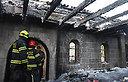 הצתת הכנסיה בכפר נחום (צילום: אביהו שפירא)
