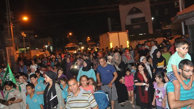 Ramadan procession in Qalansawe on Wednesday night