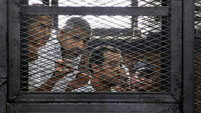 Journalists imprisoned in Egypt (Photo: AP)